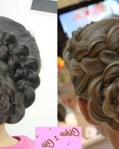 French Braids In Flower Buns