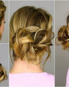 Messy Bun Braided Hairstyles