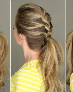 French Braid Ponytail Hairstyles