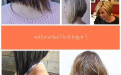 Long Feathered Bangs Hairstyles with Inverted Bob