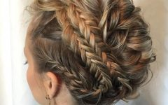 Multi Braid Updo Hairstyles
