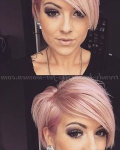 Edgy Undercut Pixie Hairstyles with Side Fringe