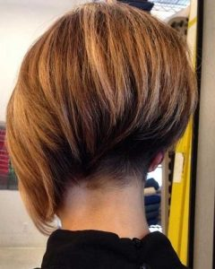 Asymmetrical Bob Hairstyles Back View