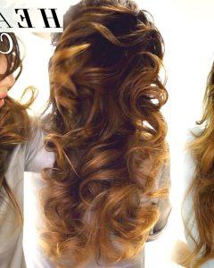 Huge Hair Wrap And Long Curls Hairstyles