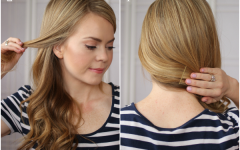 Double Twist and Curls to One Side Prom Hairstyles