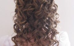 Pile of Curls Hairstyles for Wedding