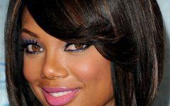 Medium Haircuts for Black Women Round Face