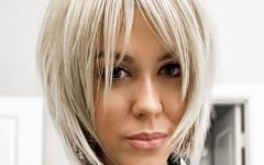 Sliced Platinum Blonde Bob Hairstyles