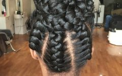Cornrows Tight Bun Under Braid Hairstyles