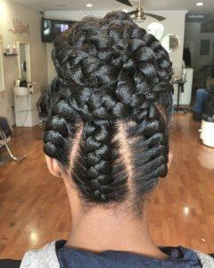 Cornrows Tight Bun Under Braid Hairstyles
