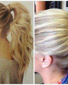 Wrap-around Ponytail Updo Hairstyles