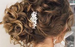 Airy Curly Updos for Wedding