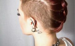 Short Hair Wedding Fauxhawk Hairstyles with Shaved Sides