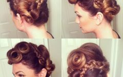 Vintage Inspired Braided Updo Hairstyles