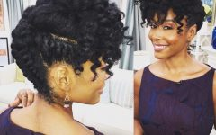 Natural Updo Hairstyles for Black Hair