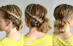 Side Bun with Double Loose Braids