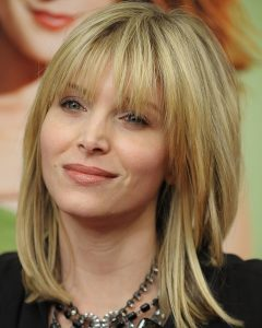 Medium Hairstyles For Round Faces With Bangs