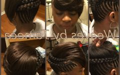 Braided High Bun Hairstyles with Layered Side Bang