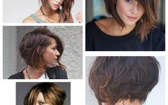 Asymmetrical Choppy Lob Hairstyles