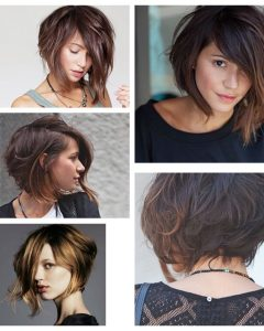 Asymmetrical Choppy Lob Hairstyles