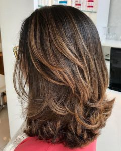 Shoulder Length Haircuts With Flicked Ends