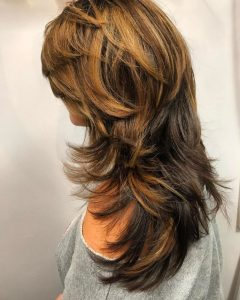 Long Feathered Shag Haircuts For Thick Hair