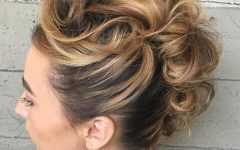 Elegant Curly Mohawk Updo Hairstyles