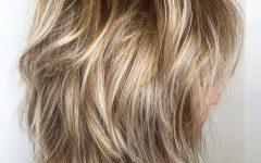 Medium Golden Bronde Shag Hairstyles
