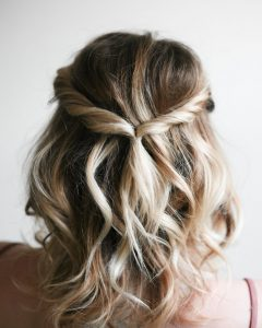 Twisted Prom Hairstyles Over One Shoulder