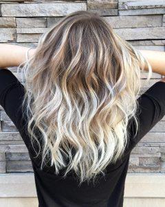 Dark Blonde Into White Hairstyles