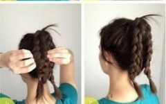 Thin Double Braids with Bold Bow