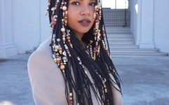 Cleopatra-style Natural Braids with Beads