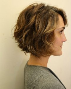 Layered Wavy Lob Hairstyles