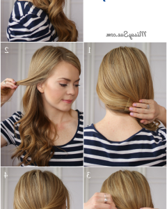 Pinned-up Curls Side-swept Hairstyles