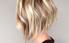 Long Angled Bob Hairstyles with Chopped Layers