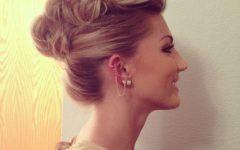 Pompadour Bun Hairstyles for Wedding