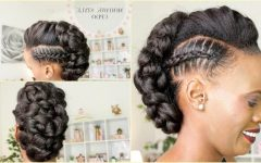 Braided Mohawk Bun Hairstyles