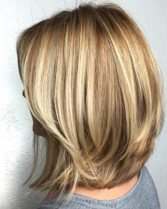 Two-Tier Lob Hairstyles For Thick Hair