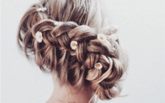 Rolled Roses Braids Hairstyles