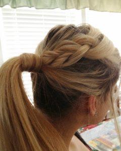 Double Braided Wrap Around Ponytail Hairstyles