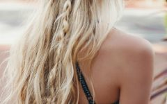 Blonde Ponytail Hairstyles with Beach Waves