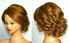 Curly Updo Hairstyles for Medium Length Hair