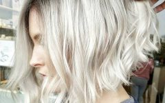 Angled Wavy Lob Blonde Hairstyles