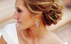 Professionally Curled Short Bridal Hairstyles