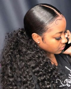 Triple Weaving Ponytail Hairstyles With A Bow