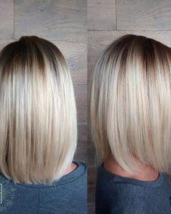 Rooty Long Bob Blonde Hairstyles