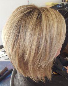 Shaggy Chin-Length Blonde Bob Hairstyles