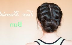 Braided Bun with Two French Braids
