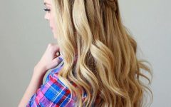 Chic Waterfall Braid Prom Updos