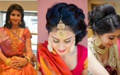 Wedding Reception Hairstyles for Saree
